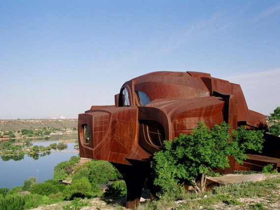 Steel House in Texas, USA. -Rear view of the house tourism destinations